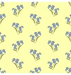 wallpaper with forget-me-not vector image vector image