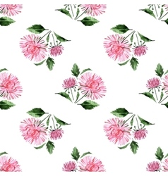 Watercolor aster pattern vector