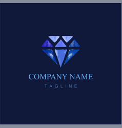 Watercolor diamond logo design6 vector