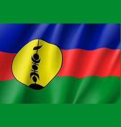 Waving flag of new caledonia vector