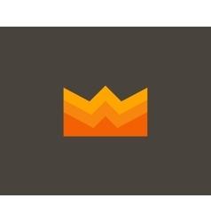 Color crown logo design Creative royal king vector image