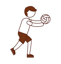 Ethlete practicing volleyball avatar vector