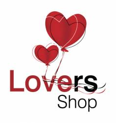 Lovers shop logo vector