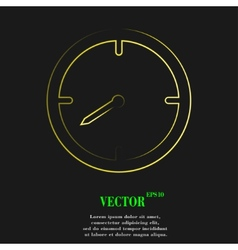 Timer icon symbol flat modern web design with long vector
