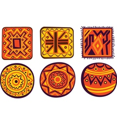 African color ornament vector