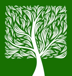 Art tree vector