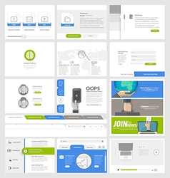 Flat website template elements for business vector