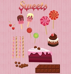 All sorts desserts vector