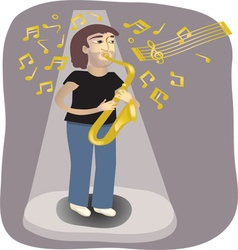The saxophone player vector