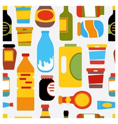 Grocery seamless pattern vector
