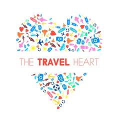 Travel Heart 2 vector image