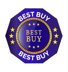 best buy badge vector image vector image