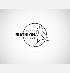 Biathlon Emblem vector image