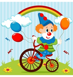 Clown on bike vector