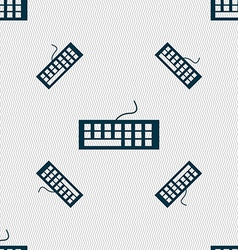 Computer keyboard Icon Seamless pattern with vector image