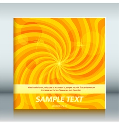 Cover page template brochure background vortex joy vector
