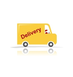Delivery car for your design vector