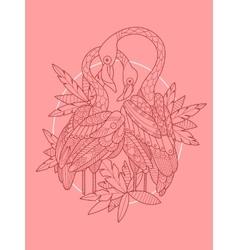 Flamingo bird tattoo design vector image vector image