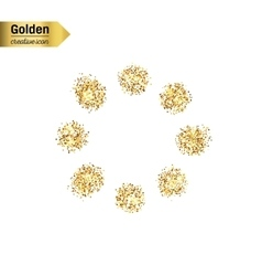 Gold glitter icon of loading isolated on vector