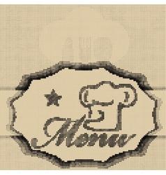 Halftone menu vector