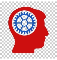 Head cogwheel icon vector