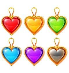 Heart Pendants vector image