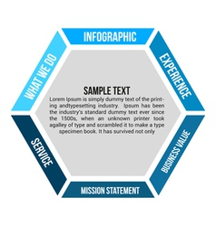 Hexagon infographic element Vol1 vector image vector image