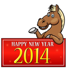 Horse with New year Sign vector image