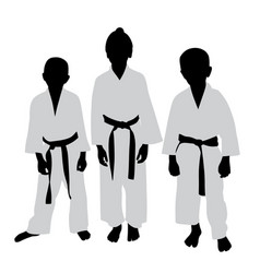 karate kids vector image