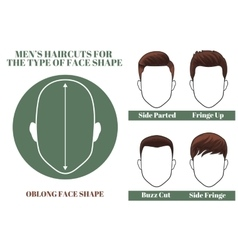 Oblong face shape vector
