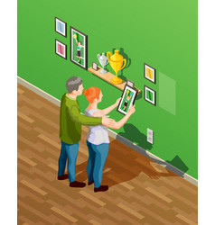 parents isometric vector image vector image