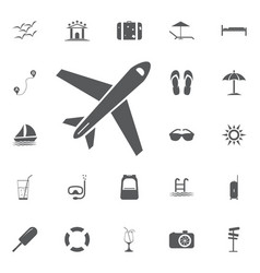 plane icon solid pictogram vector image