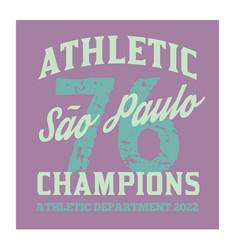 S o paulo sport t-shirt design vector