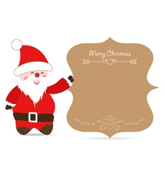 Santa claus greeting card retro vector