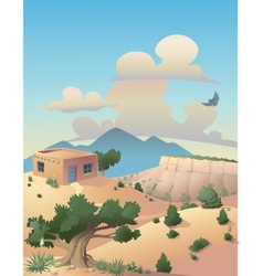 Southwestern desert vector