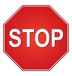 Stop vector image vector image
