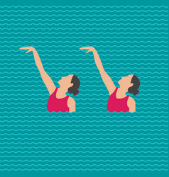 Synchronized swimming banner vector