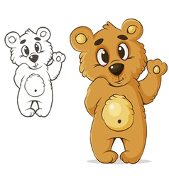 teddybear vector image vector image