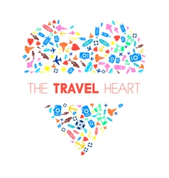 Travel heart 2 vector
