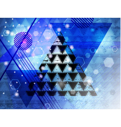 triangle 16 vector image vector image