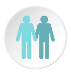 Two men gay icon circle vector