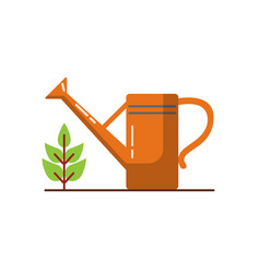 watering can icon in flat style vector image