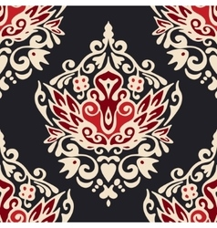 Damask florals seamless ornamental vector