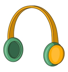 Protective headphones icon cartoon style vector