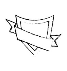 Shield element sticker sketch vector
