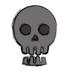 Skull icon image vector