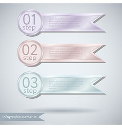 Infographic ribbon concept vector
