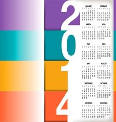 2014 color stripes calendar vector