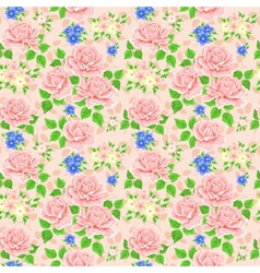 Seamless wallpaper pattern with roses vector
