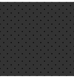 Tile pattern black polka dots on grey background vector image
